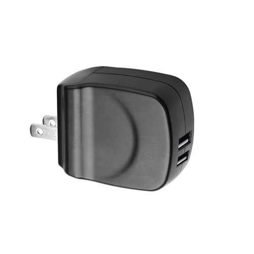 Portable travel Dual USB Charger with 2A output current LS-PW12-2U0510
